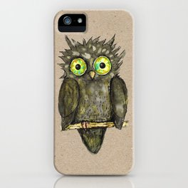 Black little owl iPhone Case