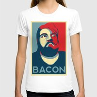 bacon T-shirts featuring BACON by MezmoreyezGaming