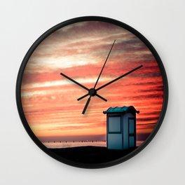crimson skies Wall Clock