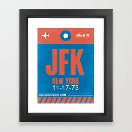 JFK New York Luggage Tag 1 Framed Art Print