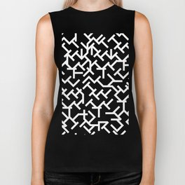 Geometric Labyrinth Biker Tank