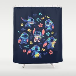An Alien's Day Shower Curtain