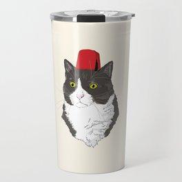 Fez Hat Cat Travel Mug