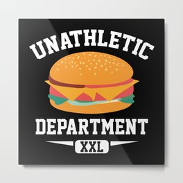 Unathletic Department Metal Print