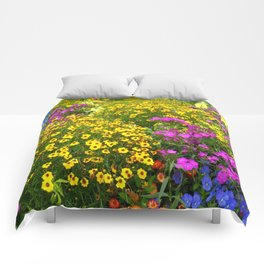 Yellow Flower takeover Comforters