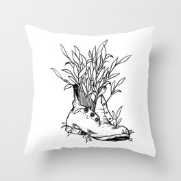 Future is Nature Boot Throw Pillow