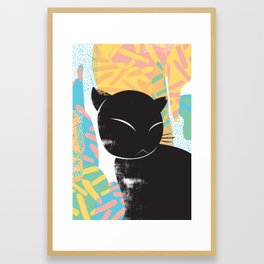 Memphis Cat Framed Art Print