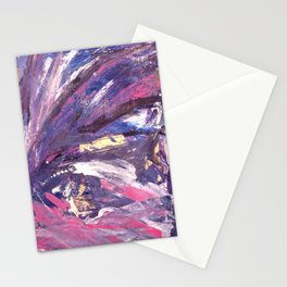 Abstract in Purple and Glitter Stationery Cards