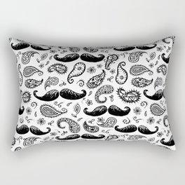 Mustache Paislies Rectangular Pillow