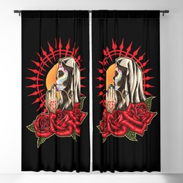 Praying Santa Muerte - La Calavera Catrina Blackout Curtain
