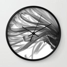 Spider Mum Black and White 2 Wall Clock