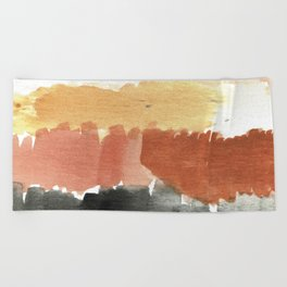 Abstract in Rust n Clay Beach Towel