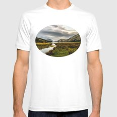 Feeding the waters MEDIUM White Mens Fitted Tee