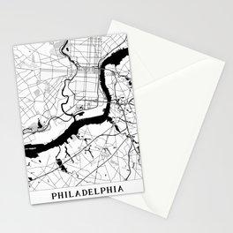 Philadelphia Minimal Map Stationery Cards