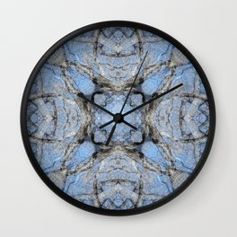 MAGIC WINTER COTTONWOOD MANDALA Wall Clock