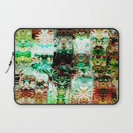 Emerald and Aqua Pattern Design Laptop Sleeve
