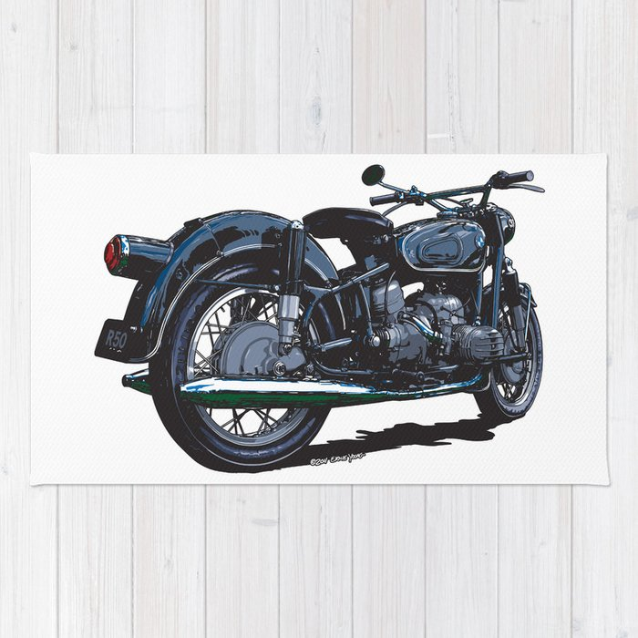 Bmw R50 Motorcycle Rug By Ernyoung Society6