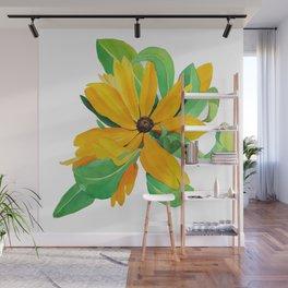 Sunshine Daisy Wall Mural
