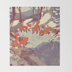 Fisher Fox Throw Blanket