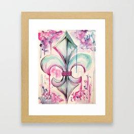 Fleur de Lis Framed Art Print
