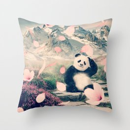 Baby Panda by GEN Z Throw Pillow