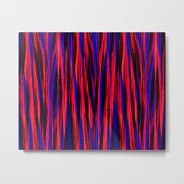 Wave Stripes Pattern Metal Print