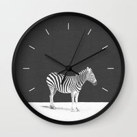 camouflage Wall Clocks featuring CAMOUFLAGE by DANIEL COULMANN