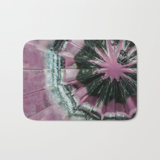 Black and pink abstract Bath Mat
