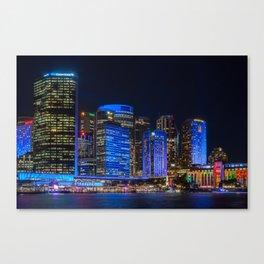 Color the City blue - Vivid Sydney Canvas Print