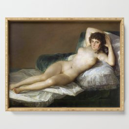 Maja Desnuda (The Nude Maja) by Francisco Goya Serving Tray