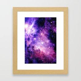 Galaxy Nebula Purple Pink : Carina Nebula Framed Art Print