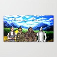 No Place Like Home Wizard Oz Art Canvas Print