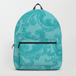 Retro Chic Swirl Teal Backpack