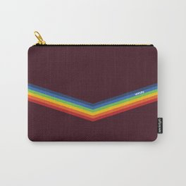 Unruly V Stripe Rainbow Print Carry-All Pouch