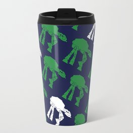 AT-AT's in Green and White on Navy Travel Mug