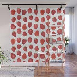 Strawberries watercolor Wall Mural