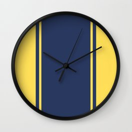 Yellow and Blue Pattern Wall Clock