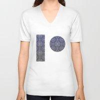 wallpaper V-neck T-shirts featuring Wallpaper by MinaSparklina