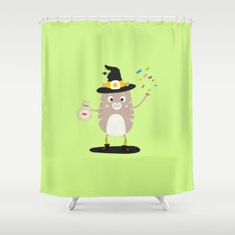 Happy Halloween Witch Cat T-Shirt Dfewd Shower Curtain
