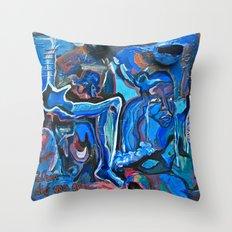 The Blue Cadaver Throw Pillow