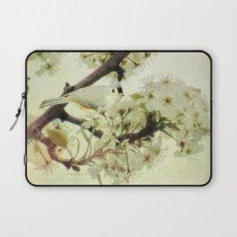 Tufted Titmouse Spring Flower Farmhouse Art Country Home Decor A132 Laptop Sleeve