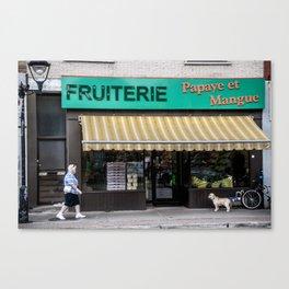 Le fruiterie Canvas Print