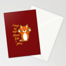 Look at all these Fox I give Stationery Cards