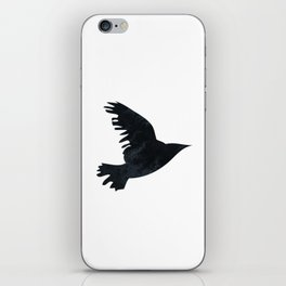 Ravens Birds in Black and White iPhone Skin