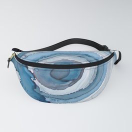 Blue Agate Painting Fanny Pack