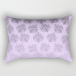 Abstract hand painted black lavender ombre floral Rectangular Pillow