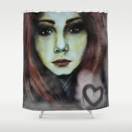 Misted Window Girl Shower Curtain