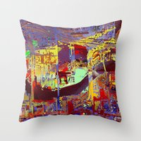 hotline miami Throw Pillows featuring miami by donphil