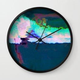 18-23-46 (Skyline Cloud Glitch) Wall Clock