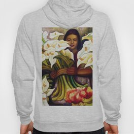1938 Classical Masterpiece 'Alcatraces Flower Seller' by Diego Rivera Hoody